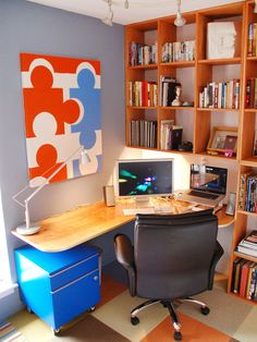 A Piece of the Puzzle - Utilize Spaces With Creative Shelves on HGTV
