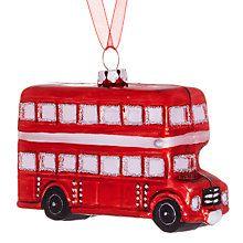 Buy John Lewis Glass London Bus Decoration, Red Online at johnlewis.com