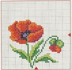 Examples of cross-stitch, Cross Stitch Embroidery, Cross Stitch Patterns, Cross Stitch Pictures, Needlepoint, Poppies, Instagram Posts, Videos, Stitching, Baby
