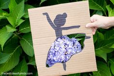 Purple Flower Ballerina Cutout Ballerina Silhouette, Ballerina Art, Silhouette Art, Easy Crafts For Kids, Toddler Crafts, Heavy Duty Scissors, Simple Girl, Purple Flowers, Bedroom Desk