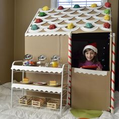 Life Sized Cardboard Gingerbread House -- awesome