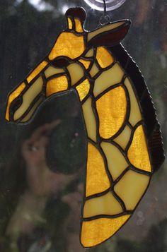 Stained Glass Giraffe Suncatcher by Caltera.deviantart.com on @DeviantArt