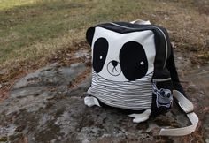 sewn panda backpack
