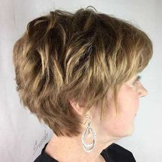 9 Miraculous Ideas: Pixie Hairstyles For Prom women hairstyles over 50 love.Older Women Hairstyles Over Layered Haircuts For Women, Haircut Styles For Women, Haircut For Older Women, Modern Hairstyles, Short Hair Cuts For Women, Cool Haircuts, Short Hairstyles For Women, Easy Hairstyles, Short Haircuts