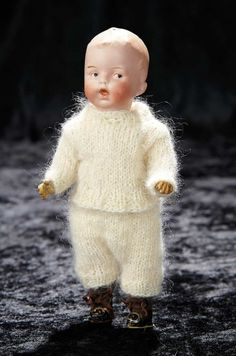 Soirée: A Marquis Cataloged Auction of Antique Dolls and Automata - May 14, 2016: 182 Small German Bisque Character by Gebruder Heubach