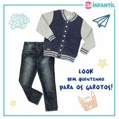 Jaqueta Hering + calça jeans. Cia Infantil 4a30f0dca4f