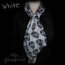 Skull Fashion Scarf - Skull Fashion Scarf Super light Linen & Cotton x In either White or Black Skull Fashion, Scarf Styles, Alexander Mcqueen Scarf, Cotton, Accessories, Black, Black People