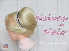 Penteado de festa coque e trança embutida, wedding updo, peinado de novia - Telma tranças - YouTube