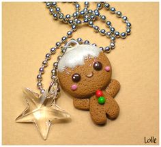 Fimo Gingerbread Man by ~LolleBijoux on deviantART