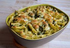 Juhtúrós-spenótos penne csirkével Penne, Mozzarella, Pasta Salad, Potato Salad, Macaroni And Cheese, Ale, Potatoes, Meat, Chicken