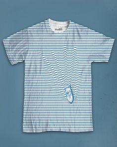 What a great idea for a t-shirt! Getting the horizontal lines printed straight would be a nightmare though.