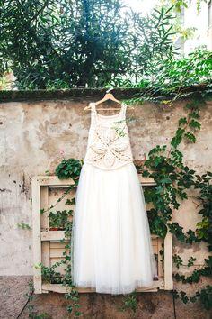 Tulle Skirt with Woolen Top #WeddingDress