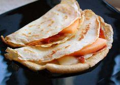 Crepes with Serrano Ham, Brie and Cantaloupe Recipe