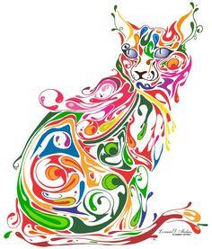 Colourful pussycat