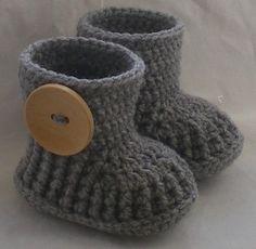 Crochet baby booties...