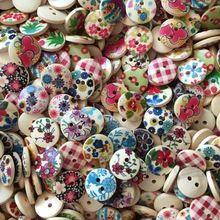 A granel botões de madeira para artesanato produtos mistos de casamento do vintage da pintura(China (Mainland))