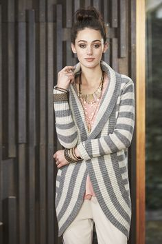 On trend cosy long cardi - CALI LONG CARDI worn with the Mariposa top.  Available soon Cosy, Fabric, Dresses, Fashion, Tejido, Vestidos, Moda, Tela, Fashion Styles