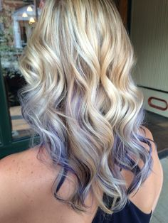 Highlights, lowlights, and purple peekaboos! . I am in love with this! #purplehair