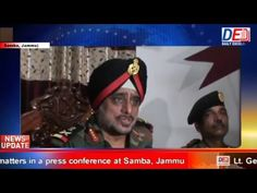 Lt. Gen K.J Singh speaking about security related matters in a press con...