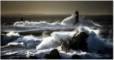 Storm in Brittany, France Site Art, Photo Bretagne, Lighthouse Keeper, Paradise On Earth, Ocean Life, Wanderlust Travel, Landscape Photographers, Beautiful Landscapes, Beautiful Images