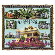 Louisiana Plantations Tapestry