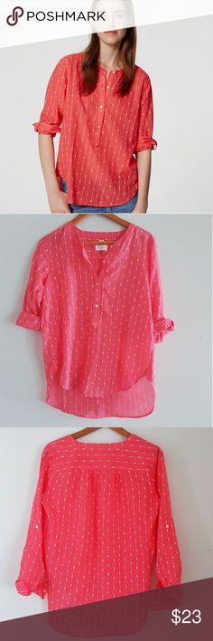 LOFT the Softened Shirt pop over blouse LOFT the Softened Shirt pop over blouse. 100% cotton. Soft and flowey. Excellent condition. LOFT Tops Blouses