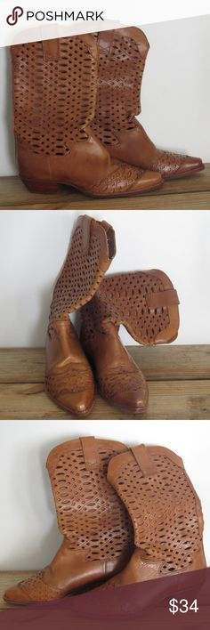 Brown Leather Cowboy Boots Mid Calf EUC Sz 6.5 Beautiful Western Mid-Calf Brown Leather Boots Brand: Nine West Style: Valencia Size 6.5 Excellent Used Condition Like other items in my closet?  Make a bundle and I'll send my best offer! Know what else is awesome about bundling?  Poshmark only charges shipping for one item, no matter how many items you bundle! Nine West Shoes Ankle Boots & Booties