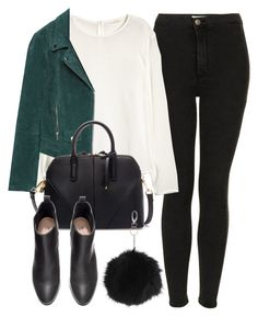 """Untitled #4438"" by laurenmboot ❤ liked on Polyvore featuring Topshop, H&M and Zara"