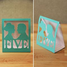 DIY Table Numbers tutorial via Indie Wed  ©Indie Wed LLC