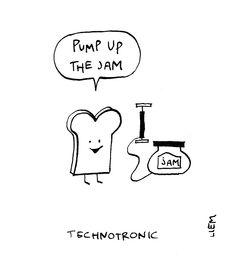 Technotronic. Pump Up The Jam. 365 illustrated lyrics project, Brigitte Liem.