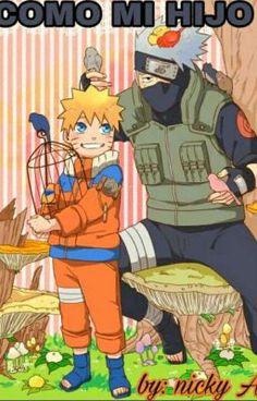 Naruto and Kakashi, by Sakuraba Chizuru Naruto And Sasuke, Anime Naruto, Gaara, Naruto Team 7, Naruto Shippuden Characters, Naruto Cute, Naruto Shippuden Sasuke, Naruto Funny, Kakashi Hatake