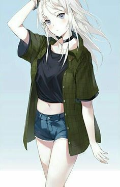 Manga Tomboy Outfits Manga fille - cheveux ...