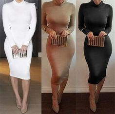 Clubbing Dresses 2016 New Sexy Bandage Bodycon Dress Long Party Dresses Women High Collar Casual Dress Vestido De Festa Dress Sale From Jessiebee, $4.57| Dhgate.Com