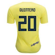 d156f5cddcf Aquivaldo Mosquera 22 2018 FIFA World Cup Colombia Home Soccer Jersey