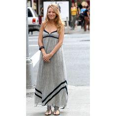 Blake Lively (Serena) Gray Long Prom Dress Gossip Girl Season 3 $139 Dresses in TV Dramas