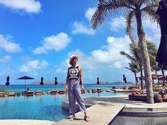 Essa é considerada a piscina mais bonita do mundo.... Da para ver o porque né?  Ela fica no hotel @hotelchristopherstbarth  #FHitsStBart #STBARTH #SBH @fhits @conexaodestinos