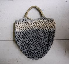 dip dye hand crocheted market tote no. 3