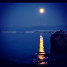 Moonlight over North Norway
