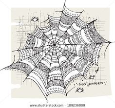 Halloween spider web background by balabolka, via ShutterStock