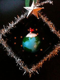 North Pole from outer space - another little diorama ornament