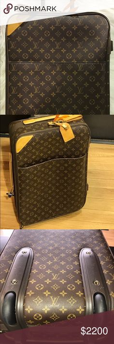 Authentic Louis Vuitton pegase 45rolling suitcase Beautiful pegase 45 have some patina stains but is beautiful Louis Vuitton Bags Travel Bags