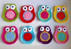little crocheted owls - would make cute ornaments