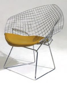 By Harry Bertoia,1953. Diamond Chair, Knoll International.