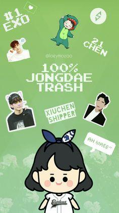 EXO-L wallpaper, Jongdae, Chen, amém EXO, xiuchen shipper é nóis, verde é tendência --} Wallpapers loeymozao {-- L Wallpaper, Xiuchen, Exo, Family Guy, Comics, Fictional Characters, Cartoons, Fantasy Characters, Comic