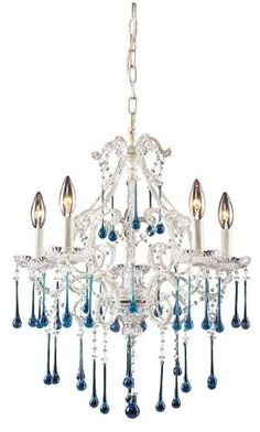 Opulence Candle Chandelier:  518.00 Turquoise drops