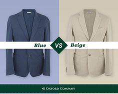 Και τα δυο είναι casual και προσδίδουν κομψότητα στο συνολικό outfit, αλλά αν έπρεπε να αποφασίσετε μεταξύ ΜΠΛΕ και ΜΠΕΖ, ποιο από τα δυο σακάκια θα επιλέγατε;  #oxfordcompany #menstyle#blazers