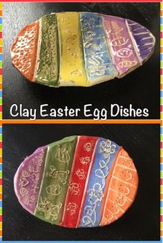 MeghCallie's Art Blog: Clay Easter Egg Dishes made from slabs. Clay Easter art project
