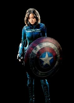 "924inlegend: ""Skye/Daisy Johnson as Captain America AU (solo) """