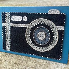 For all you photography lovers! ❤️ #hookedbywhitney #stringart #camera