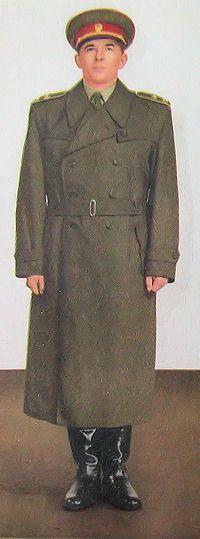 1959 pattern Czechoslovak People's Army (ČSLA) generals' service uniform (with trench coat).